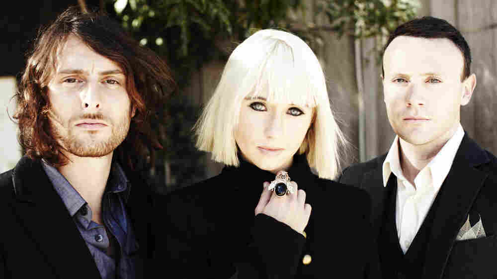 Matt Thomas, Ritzy Bryan and Rhyddian Dafydd of The Joy Formidable.