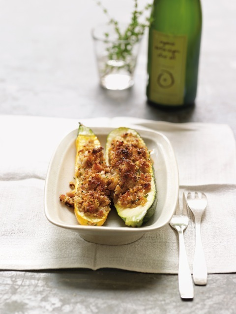 Stuffed Zucchini Boats from Delicious Memories by Anna Boiardi.