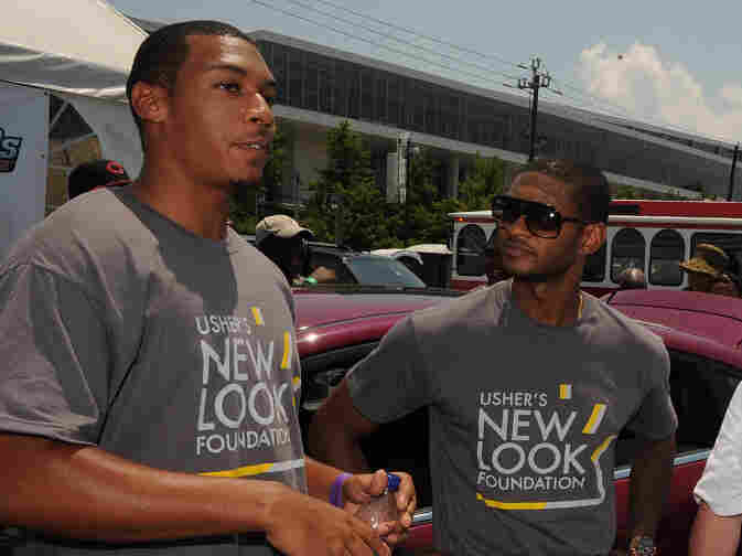 CNN reporter Don Lemon and Usher attend Powered By Service Day last August in Atlanta, Georgia. Lemon recently tweeted about his homosexuality.