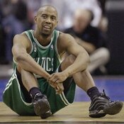 Boston Celtics' Kenny Anderson, seen here in 2002, earned more than $60 million during his 14 years playing in the NBA, yet declared bankruptcy the year his career ended.