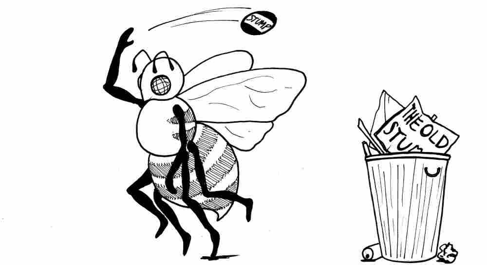 Nonchalant bee