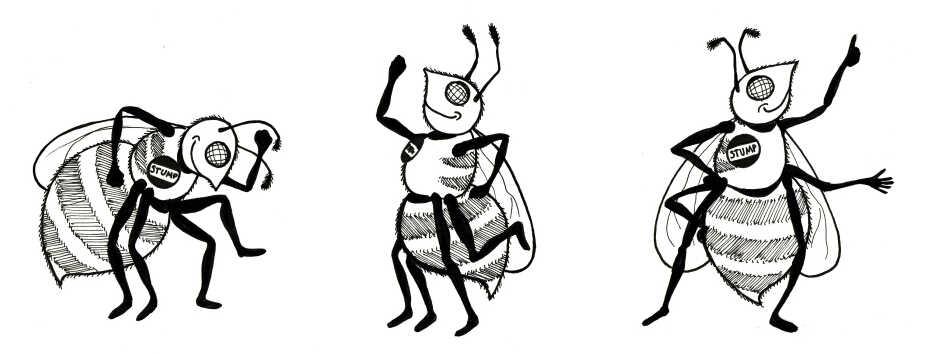 Dancing bees.