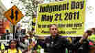 Participants in a movement that believes Judgment Day is May 21, 2011, gather on a street corner  in New York.