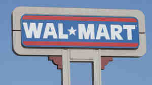 A Wal-Mart sign in Duarte, Calif.