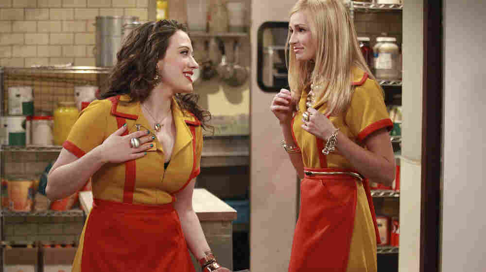 Kat Dennings and Beth Behrs star in CBS's new comedy 2 Broke Girls.