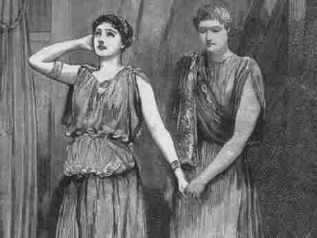 Students perform Alcestis at Queen's College in London, circa 1917.