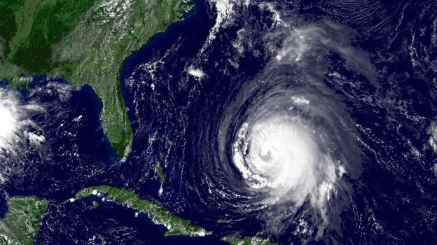 Hurricane Isabel is shown in this satellite image taken on Sept. 15, 2003. U.S. government forecasters said Thursday that they expect three to six major hurricanes from an above-average Atlantic storm season this year.