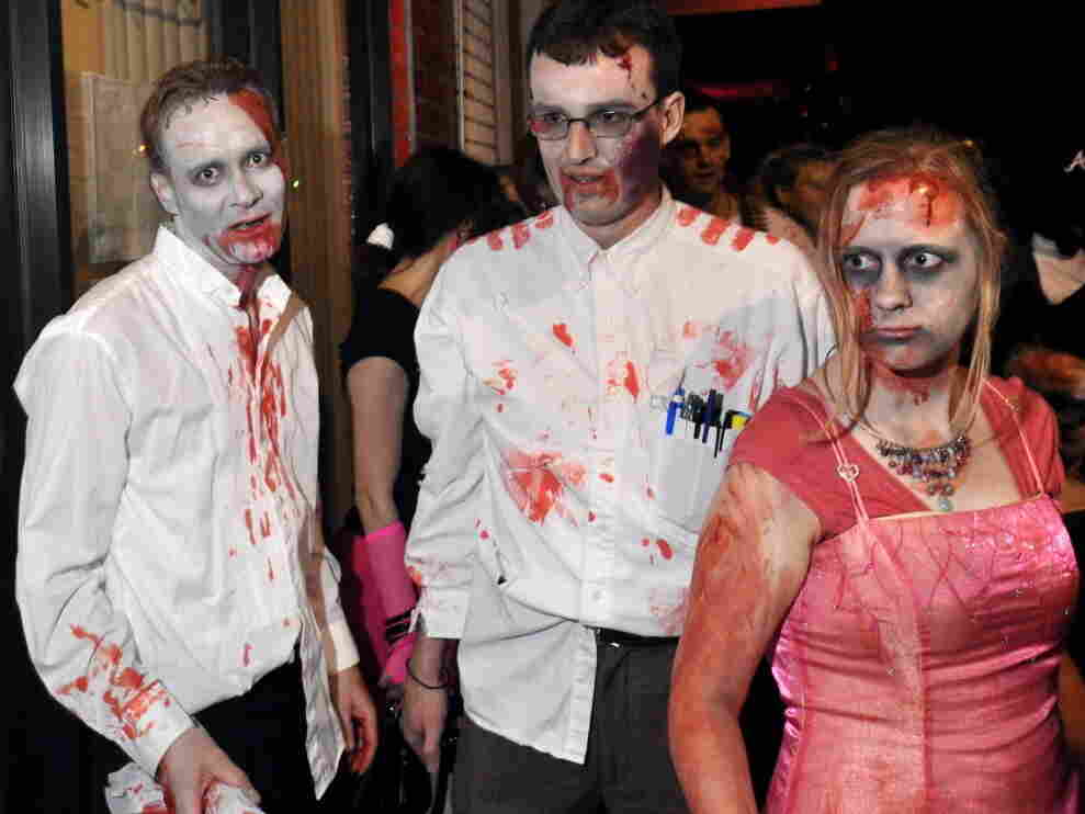 An unnamed trio terrorizes downtown Silver Spring, Md., during the 2009 edition of an annual zombie march.
