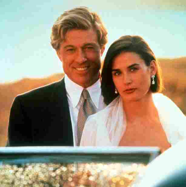 "Robert Redford (as John Gage) and Demi Moore (as Diana Murphy) in ""Indecent Proposal,"" 1993."