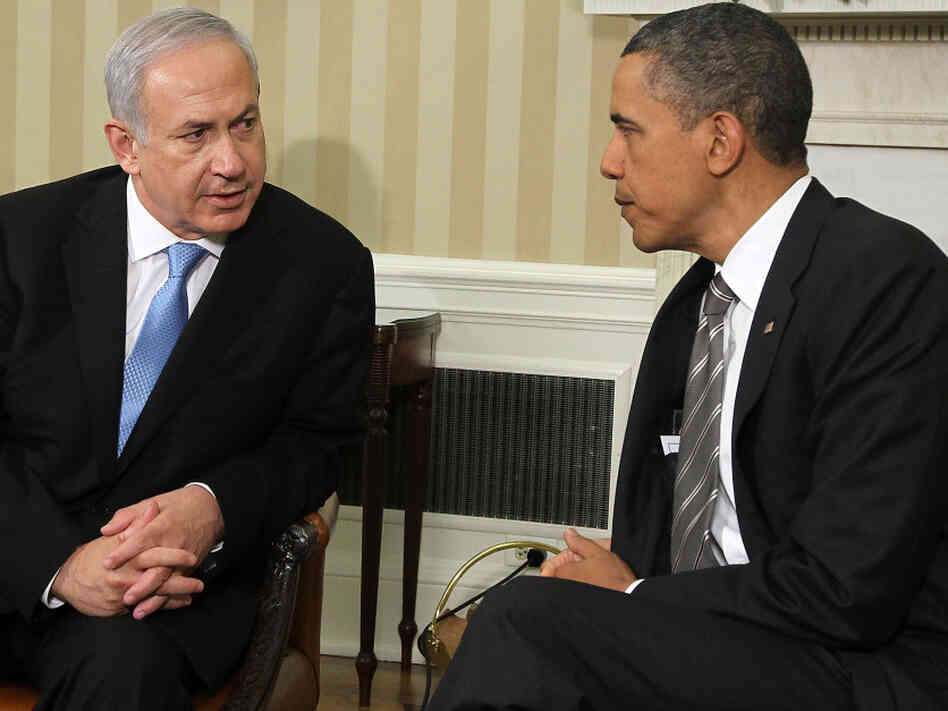 Israeli Prime Minister Benjamin Netanyahu and President Barack Obama in the Oval Office today (May 20, 2011).
