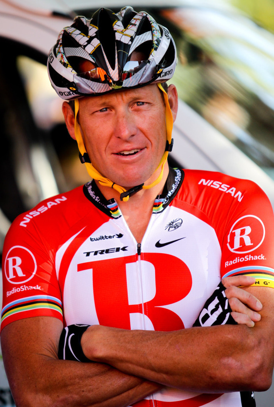 Lance Armstrong, at a race in Australia in January.