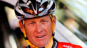 Lance Armstrong, at a race in Australia in Janua