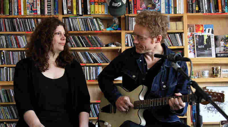 Low perform a Tiny Desk Concert at the NPR Music offices.
