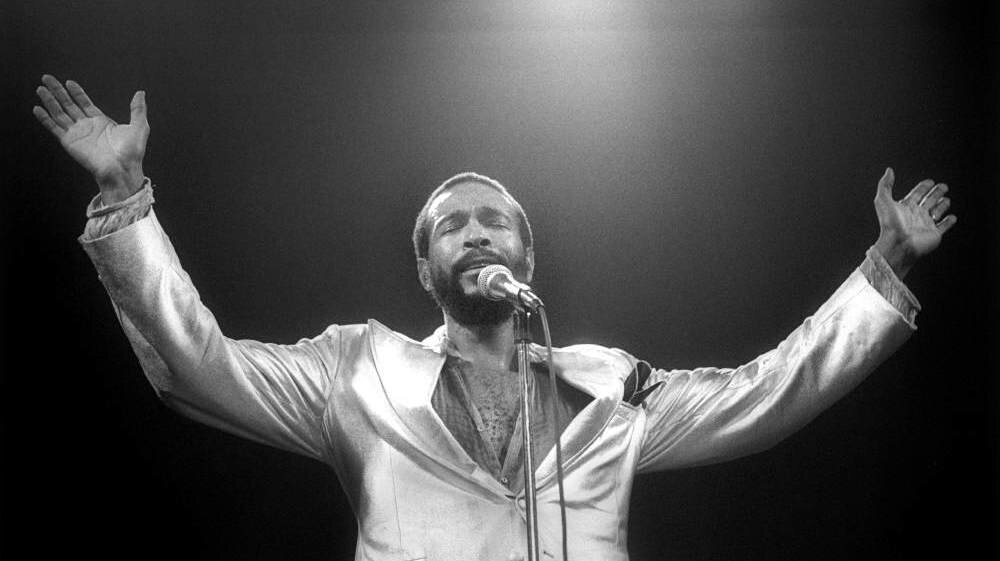 Marvin Gaye performs in the Netherlands on July 1, 1980.