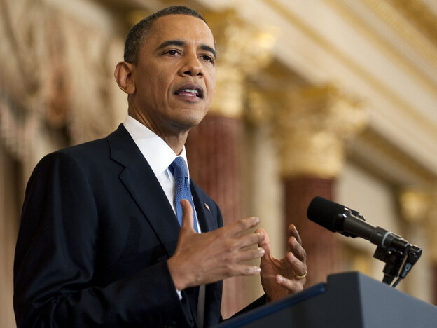 President Obama, during his address at the State Department on Thursday (May 19, 2011).