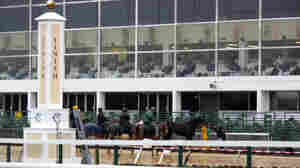 The finish line and grandstand at Pimlico Race Course in Baltimore, home of the Preakness. The track has had trouble competing with rival tracks that offer other gambling options, such as slot machines.