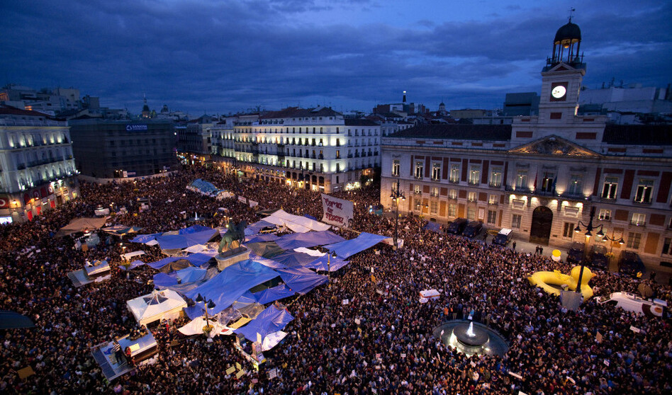 Protests in Madrid on Madrid Thursday May 19, 2011.