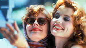Susan Sarandon (left) as Louise and Geena Davis as Thelma in the 1991 film that won screenwriter Callie Khouri an Academy Award.
