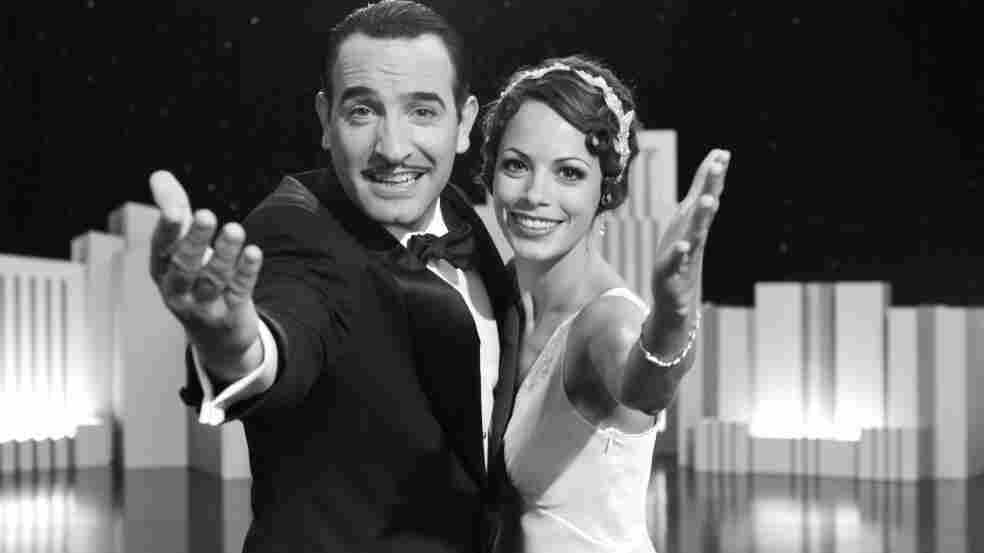 Jean Dujardin and Berenice Bejo star in Michel Hazanavicius' The Artist, a silent movie about a silent film star who's hitting his artistic peak just as the film industry starts using sound.