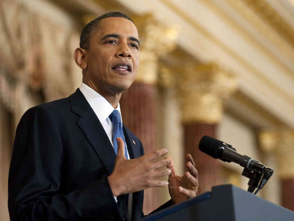 President Barack Obama speaks on the events in the Middle East in Washington on May 19. The president announced his administration is determined to promote democracy across that regions echoing sentiments from the Bush administration.