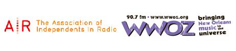 AIR and WWOZ logos