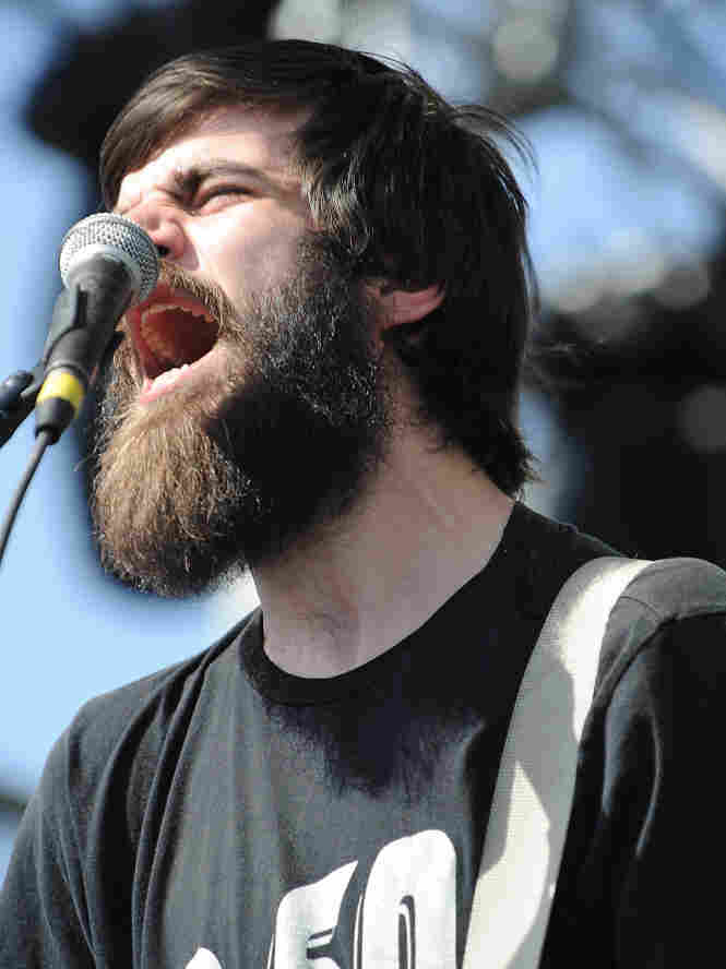 Patrick Stickles performs with Titus Andronicus.