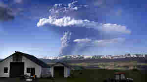 A cloud of smoke and ash is seen over the Grimsvotn volcano on Iceland on May 21, 2011.