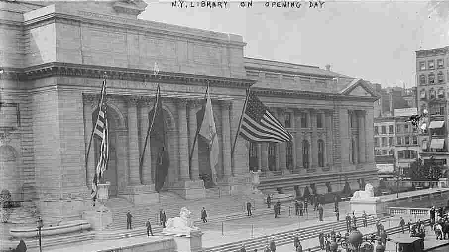 The New York Public Library on opening day, May 24, 1911.