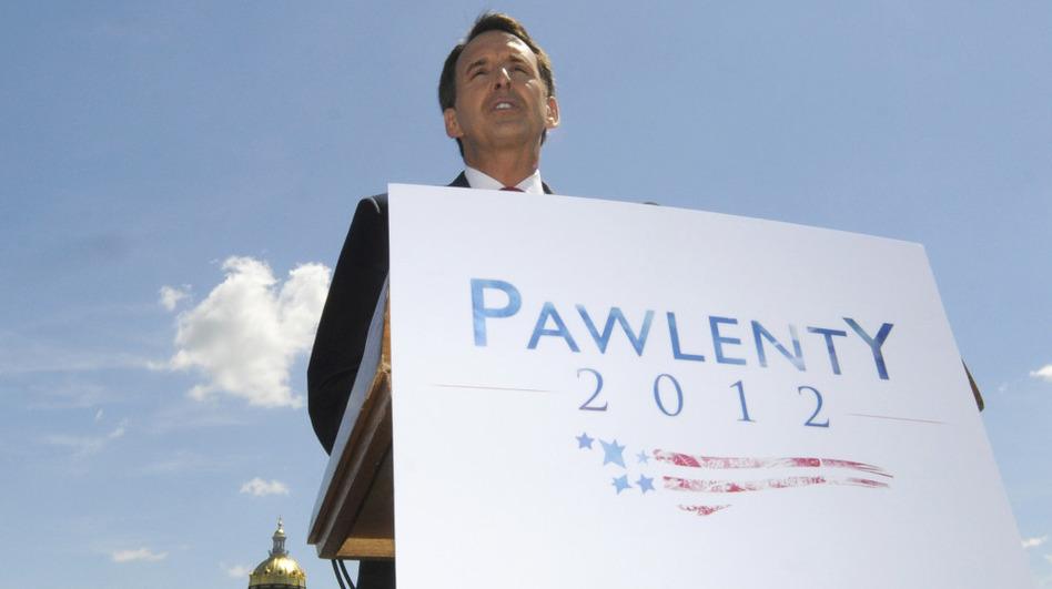 Former Minnesota Gov. Tim Pawlenty announces in Des Moines, Iowa, that he's running for president on Monday.
