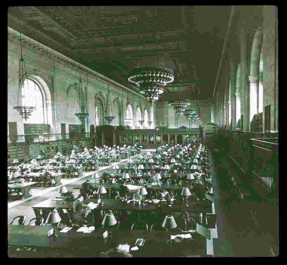 Main reading room, looking south, 1924.