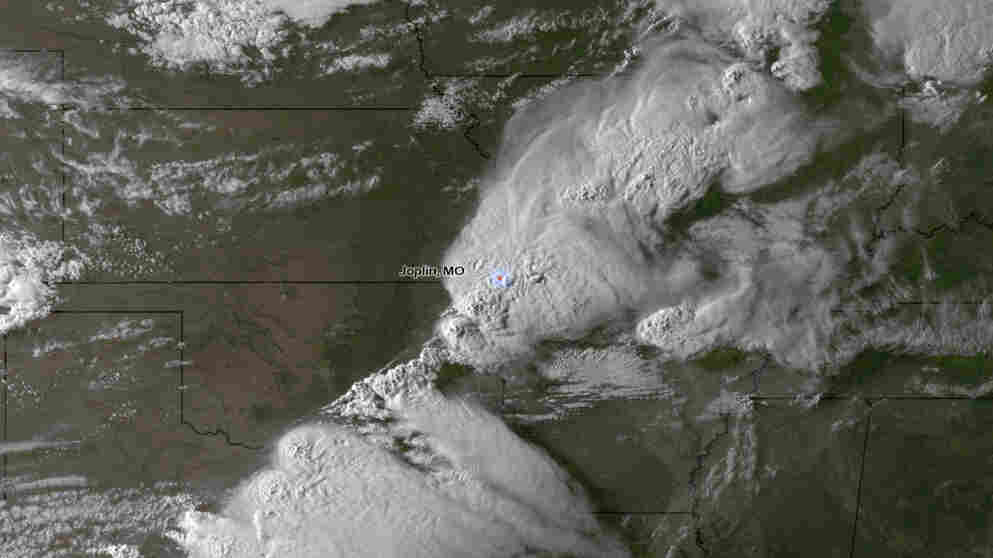 From space, the storm that hit Joplin, Mo., on Sunday (May 22, 2011) included a powerful tornado that left dozens of people dead.