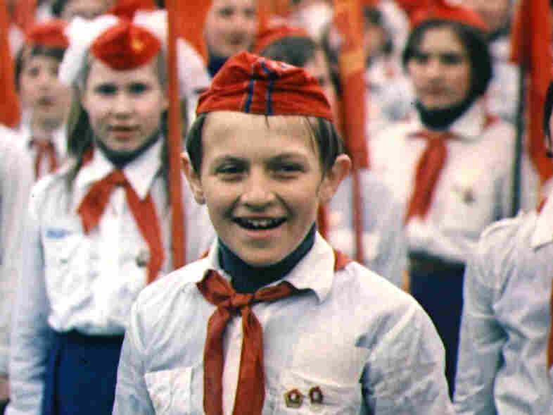 One of the children documented in My Perestroika at a celebration of the Soviet Youth.