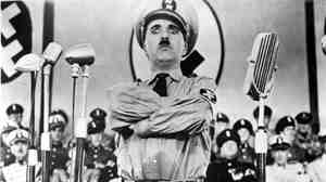 Charlie Chaplin, in the 1940 film The Great Dictator.