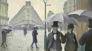 Impressionist paintings of Paris often depict a city full of sun-dappled  socialites: dancing, shopping, boating and schmoozing. But for painter  and art patron Gustave Caillebotte, Paris was a darker, lonelier place. His 1877 work, Paris Street; Rainy Day, shows Parisians making their way down a vast street on a dreary day. (Click enlarge to see the full painting.)