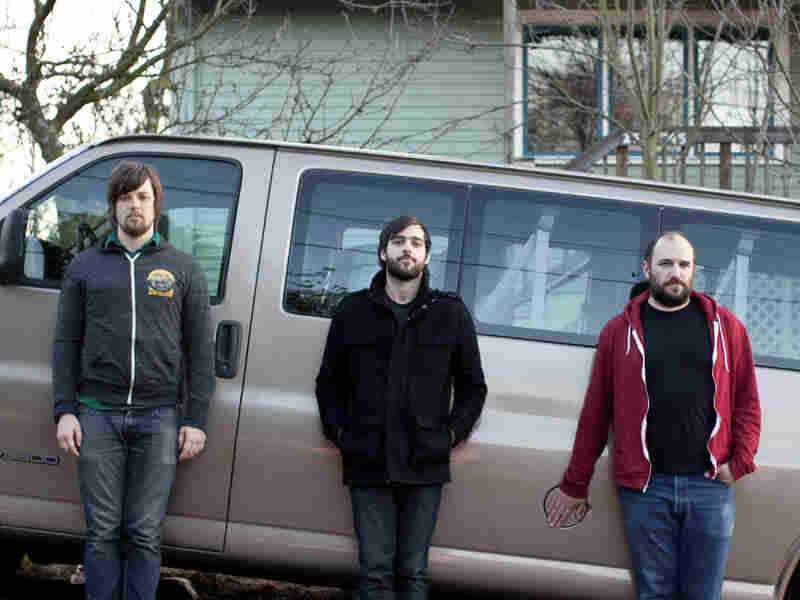 Left to right: Alex Westcoat, Andy Fitts and David Bazan.