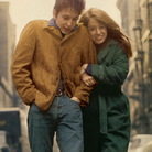 Suze Rotolo (right) on the cover of Bob Dylan's The Freewheelin' Bob Dylan.