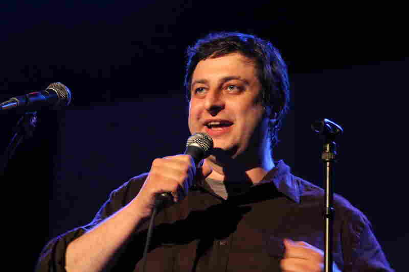 Co-host Eugene Mirman warms up the crowd.
