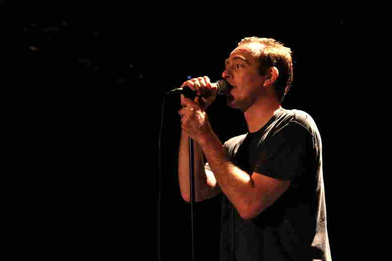 Singing to a homemade backing track, Ted Leo does his best impression of Minor Threat frontman Ian MacKaye.