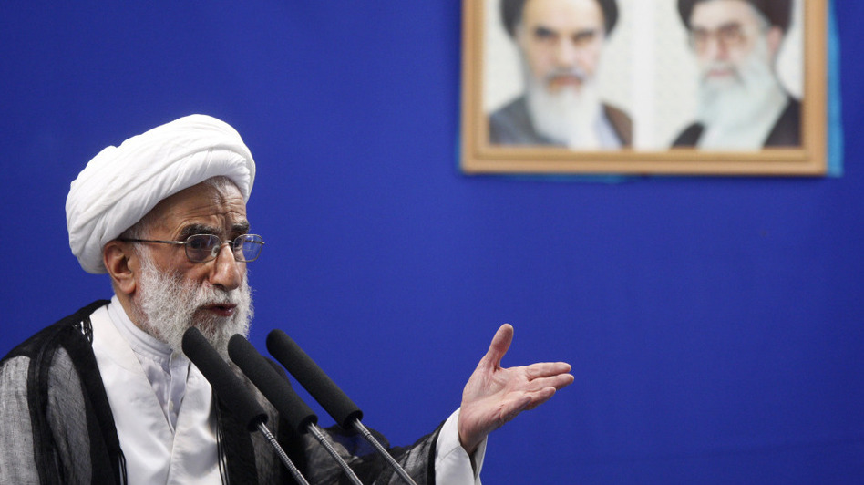 Ayatollah Ahmad Jannati, head of the Guardian Council, delivers a sermon in Tehran in July 2009.