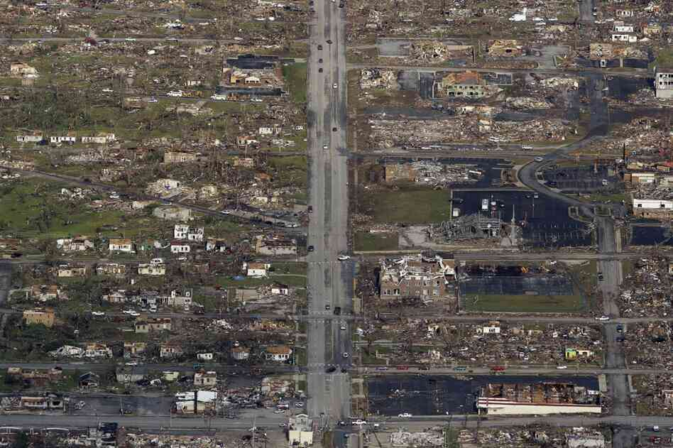 The powerful tornado leveled nearly everything in its path as it tore through Joplin, Mo.