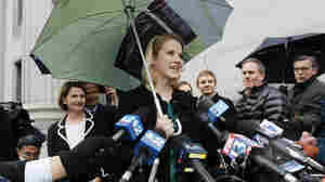 Elizabeth Smart speaks outside the federal court house following the guilty verdict in the Brian David Mitchell trail Friday, Dec. 10 2010 in Salt Lake City.