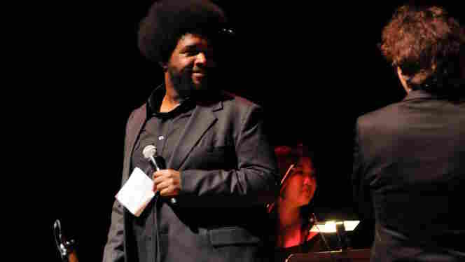 "The Roots' ?uestlove on stage during his collaboration with singer Keren Ann, ""Philly-Paris Lockdown,"" part of the Philadelphia International Festival of the Arts."