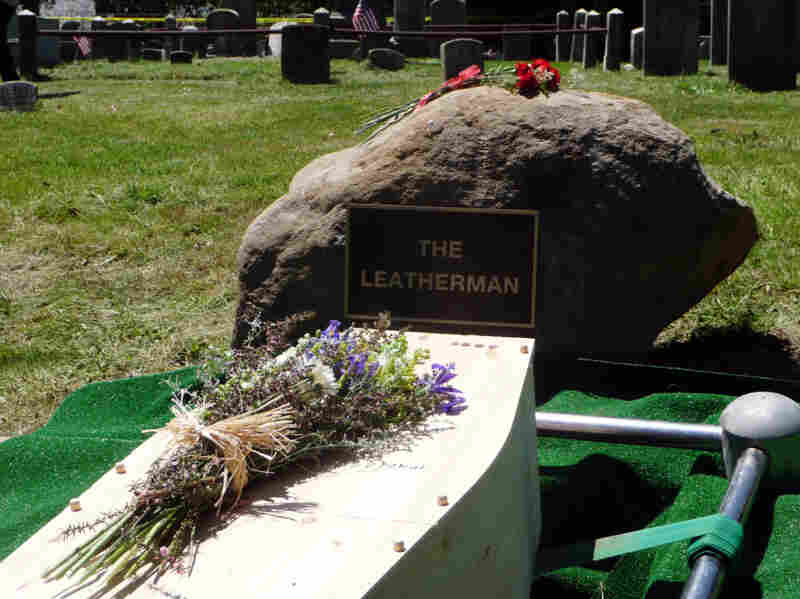 A new grave marker for the Leatherman was placed in a cemetery in Ossining, N.Y., this week.