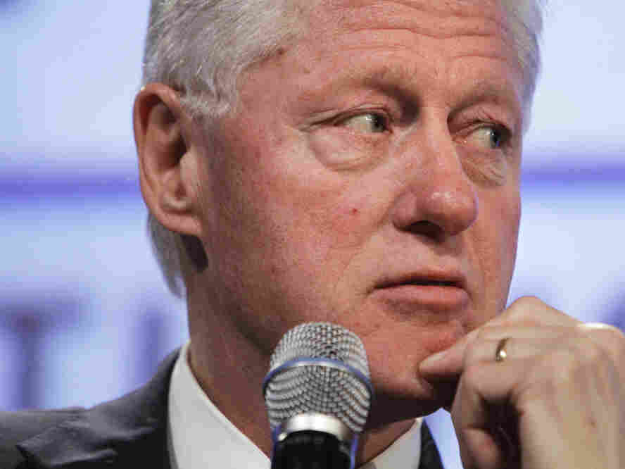 "Former President Bill Clinton ""inadvertently misspoke"" at a fiscal policy conference, May 25, 2011."