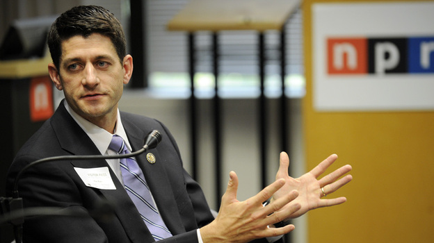 Rep. Paul Ryan (R-WI) at NPR headquarters in Washington, D.C., earlier today (May 26, 2011). (NPR)