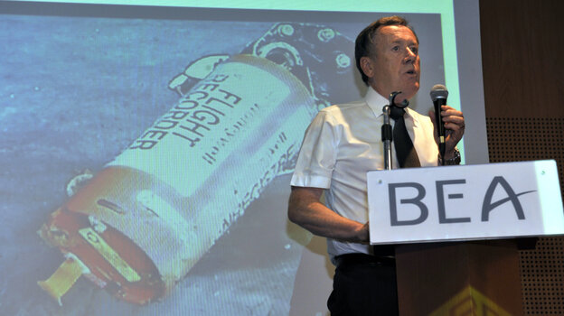 Alain Bouillard of France's air incident investigation bureau held a news conference on May 12 near Paris. On Friday, the agenc