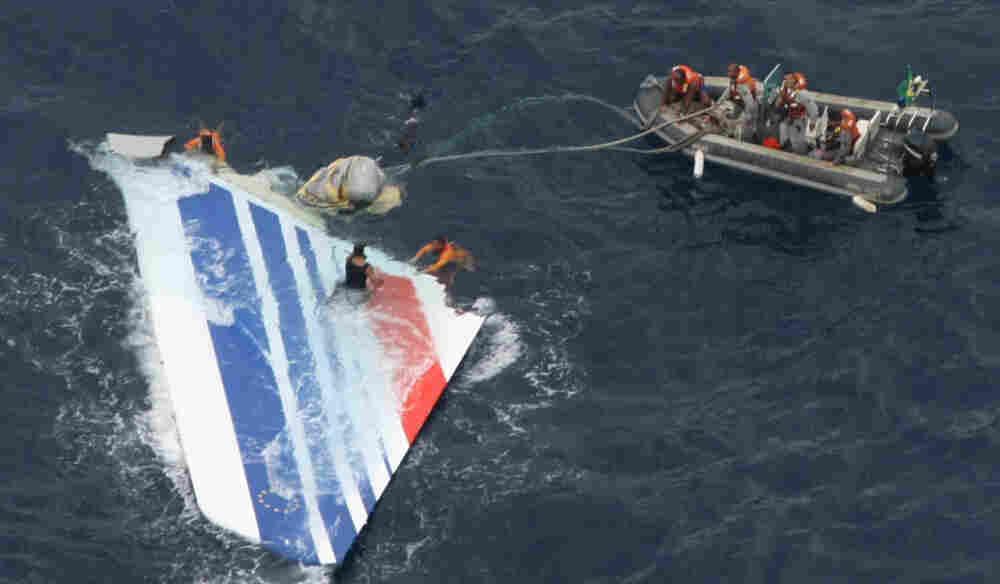 Brazilian sailors recover debris from Air France Flight 447 in the Atlantic Ocean on June 8, 2009.
