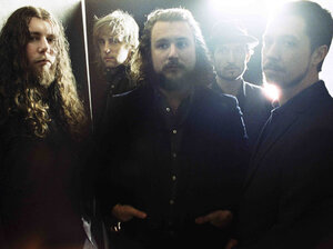 My Morning Jacket frontman Jim James (center) says the band's new album, Circuital, presented a special challenge: recording in his hometown of Louisville for the first time.