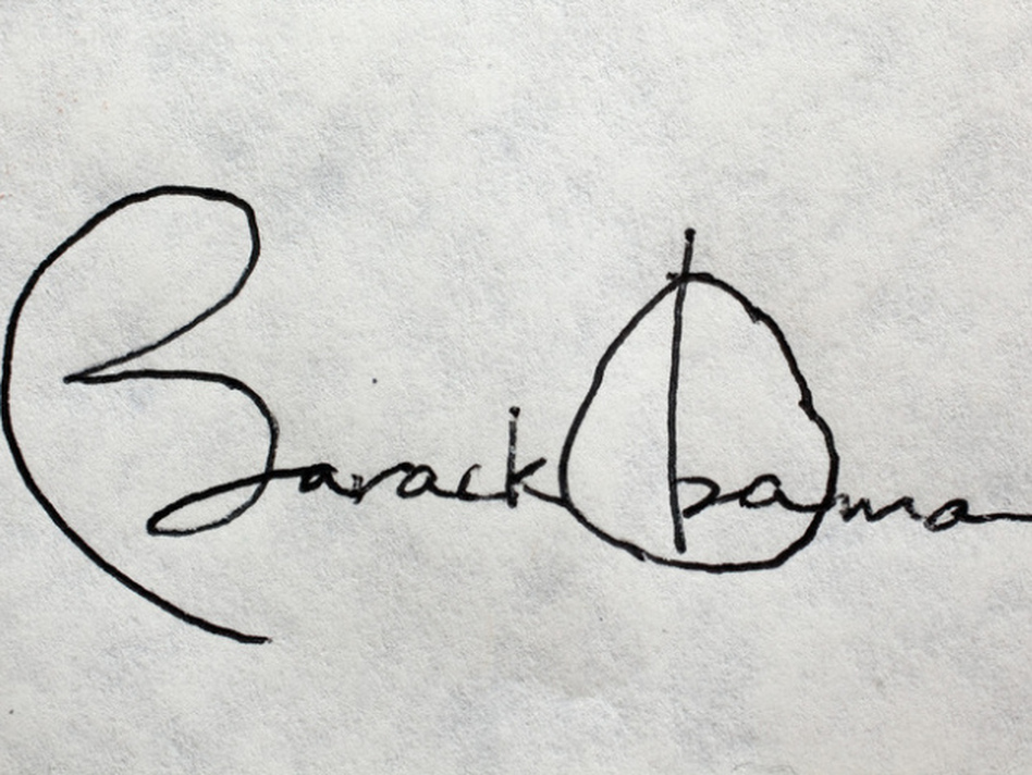 President Obama's signature. (Chuck Kennedy/The White House )