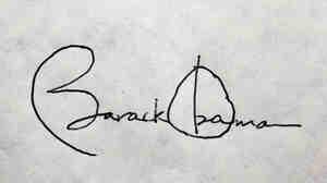 President Obama's signature.